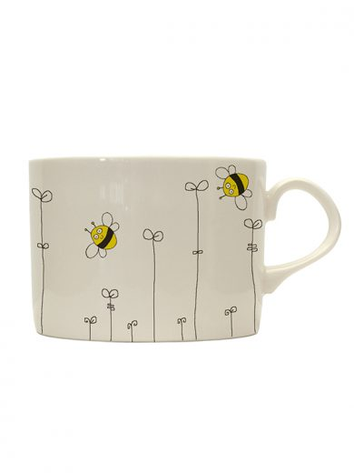 Bee and Leaf Tin mug