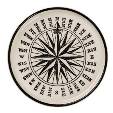 Edward Challinor compass Coaster by Royal Stafford