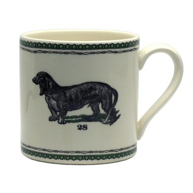 Edward Challinor dachshund Coaster by Royal Stafford