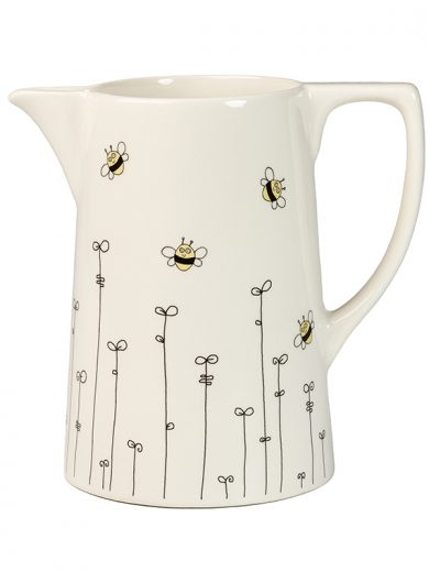 Medium Jug Bee and Leaf