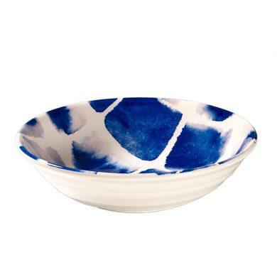 Janice Tchalenko Blue Squares 19cm Cereal Bowl