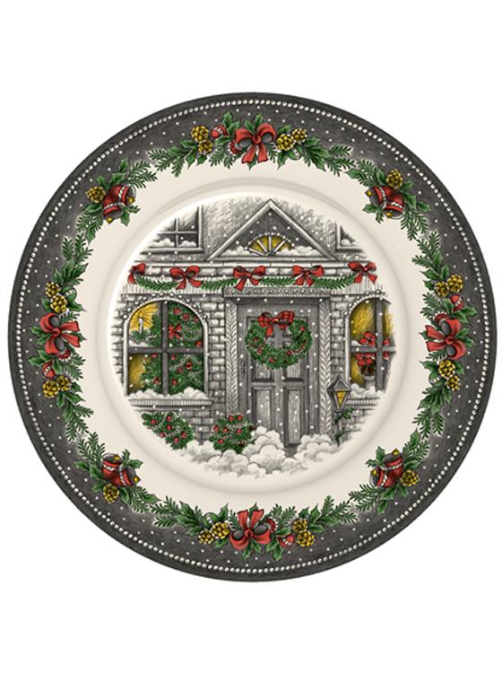 Christmas Homes Dinner Plate  sc 1 st  Royal Stafford & Christmas Homes Dinner Plate   Royal Stafford