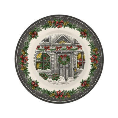 Christmas Homes Pottery Salad Plate