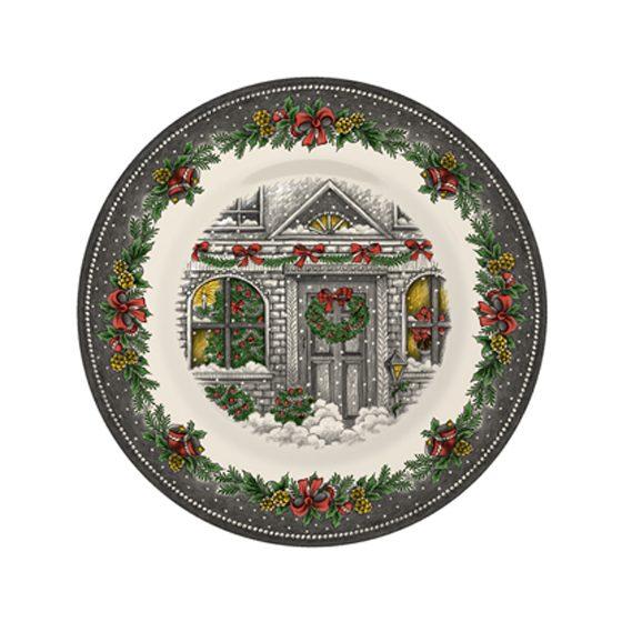 Christmas Homes Pottery Salad Plate