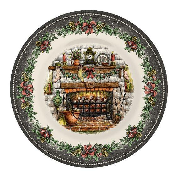 Christmas Eve Pottery Salad plate
