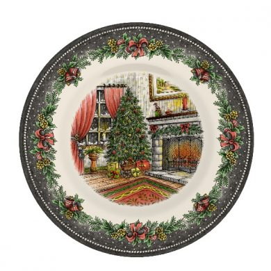 Christmas Morning Pottery Salad plate