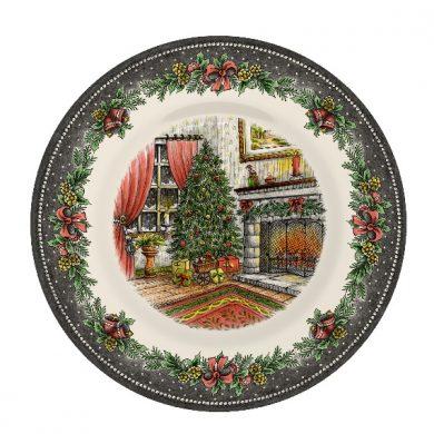Christmas Morning Pottery Salad plate