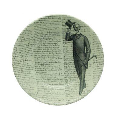 Victorian gentleman with -script cereal bowl