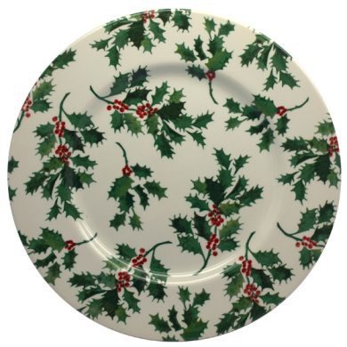 Christmas Holly 28cm plate