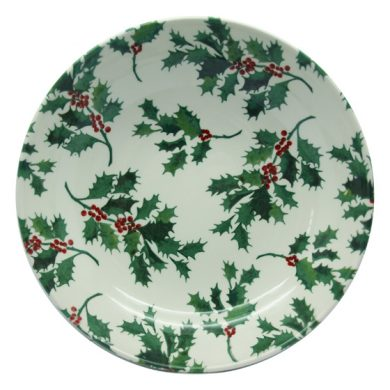 Christmas Holly pasta bowl