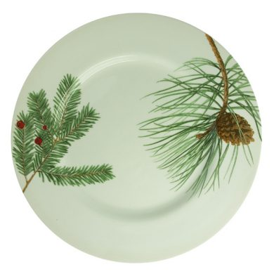 Winter branch dinner plate