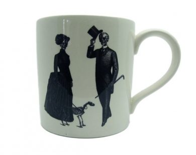 Victorian couple Halloween mug