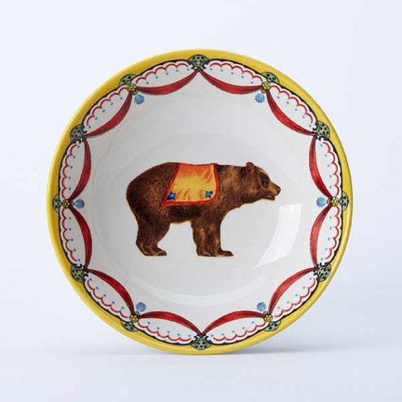 Circus Bear cereal bowl, part of the Royal Stafford Circus Collection