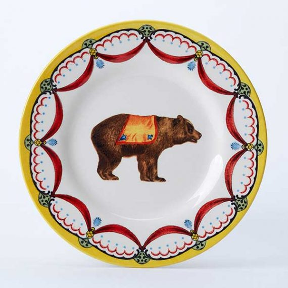 Circus bear side plate, part of the Royal Stafford Circus Collection