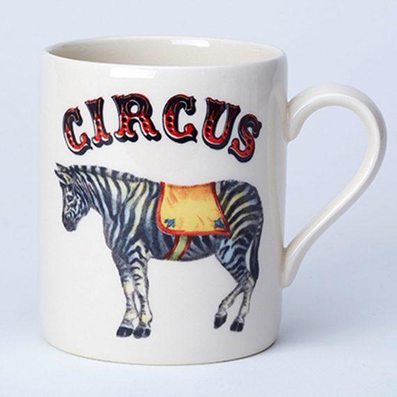 Zebra circus mug made in Staffordshire, England