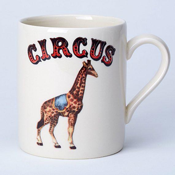 Giraffe circus mug made in Staffordshire, England