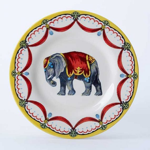 Circus elephant side plate, part of the Royal Stafford Circus Collection