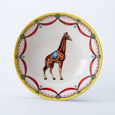 Circus Giraffe cereal bowl, part of the Royal Stafford Circus Collection