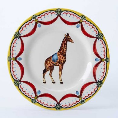 Circus Giraffe side plate, part of the Royal Stafford Circus Collection