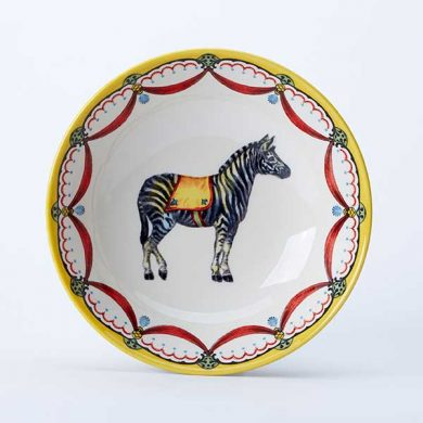 Circus Zebra cereal bowl, part of the Royal Stafford Circus Collection