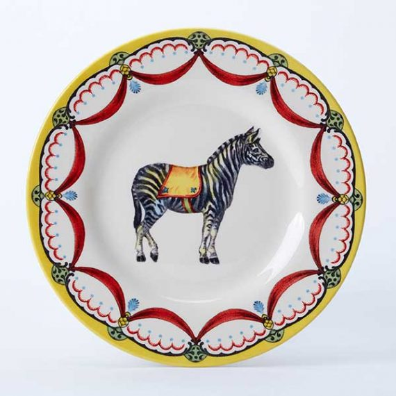 Circus Zebra side plate, part of the Royal Stafford Circus Collection