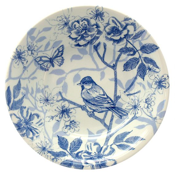 Bluebird Toile 18cm cereal bowl by Royal Stafford