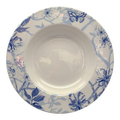 Bluebird Toile soup bowl by Royal Stafford