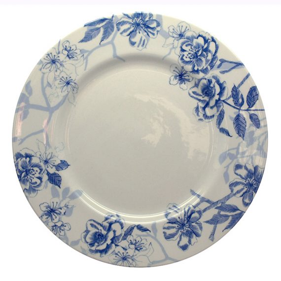 Bluebird Toile 21cm dinner plate by Royal Stafford