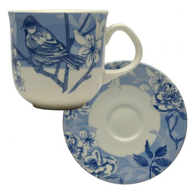 Bluebird Toile espresso set by Royal Stafford