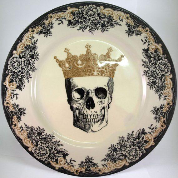 Royal Stafford Queen Skull 28cm Dinner Plate