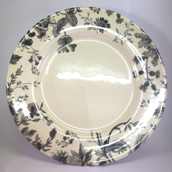 Royal Stafford Floral Weave Grey Dinner Plate