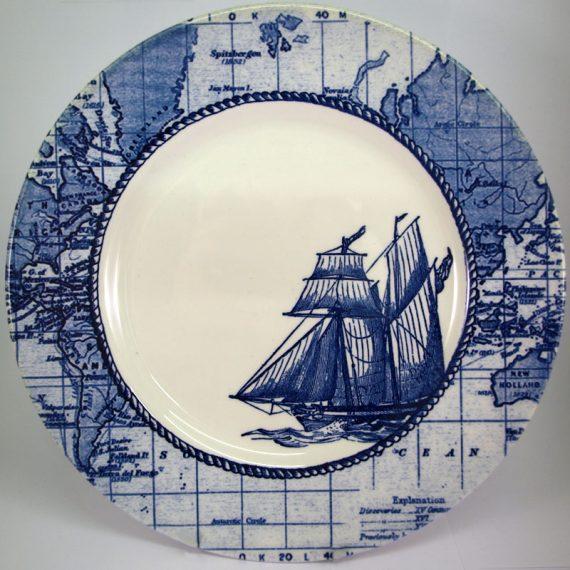 Royal Stafford Sailing Ship 28cm Dinner Plate