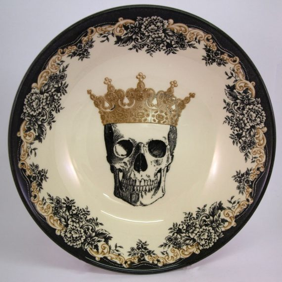 royal stafford queen skull cereal bowl
